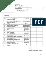 Cek List Bpjs Rawat Inap