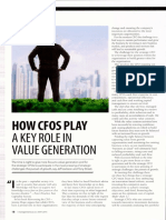 Role of Cfo in Value Generation