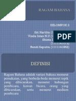 Kelompok 2 - Ragam Bahasa