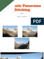 Automatic Panorama Stitching