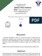 Presion Hidrostatica y Principio de Pascal
