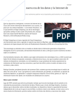 Edge Computing, La Nueva Era de Los Datos y La Internet de Las Cosas - Diario Financiero