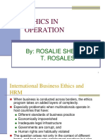 Ethics in Operation