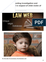 Lawweb.in-guidelines Regarding Investigation and Conduct of Trial in Respect of Child Victim of Sexual Offence