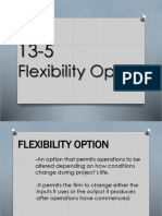 13-5; Flexibility Option