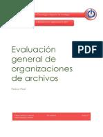 Evaluación General de Organizaciones de Archivos