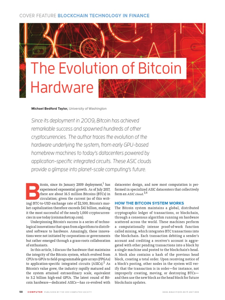 Taylor Bitcoin IEEE Computer 2017 | Bitcoin | Areas Of