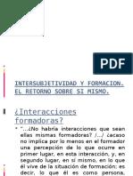 Filloux. Intersubjetividad y Formacion
