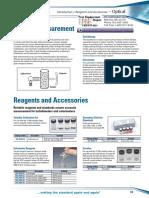 Optical Reagents Datasheet