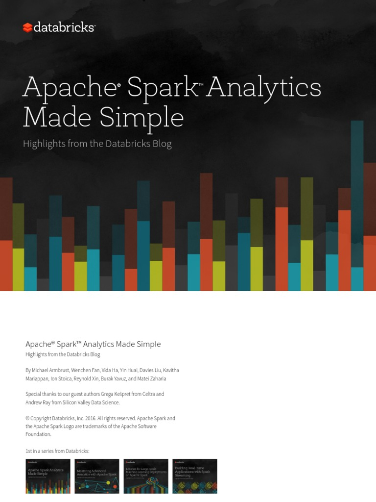 Apache_Spark_Analytics_Made_Simple pdf | Apache Spark | Application