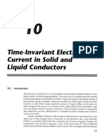 Time Invarient Currents in Conductors