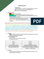 week 1 reflection feedback document