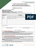 Formulario de Escolha Das Disciplinas Mestrado Priscila de Oliveira Da Silva