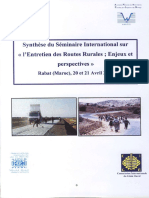 18945,Summary International Seminar Maintenance Rural Roads World Road Association Morocco Rabat 2006