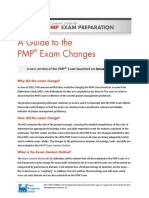 Guide to PMP Exam Changes 2016