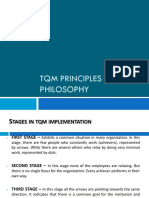 Tqm Principles and Philosophy