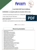 10h00 10h30 Philippe Maliet Logiciels Libres en CEM Et RF