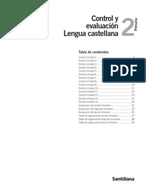 Lengua 2º Santillana Evaluaciones Pdf Sustantivo Idiomas