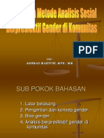 3. Konsep Dan Metode Analisis Sosial Berpresfektif Gender