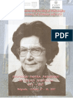 Prof. Fanula Papazoglu, Centenary Symposium 1917-2017, Belgrade October 17-18, 2017