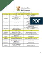 2017 NSC Timetable Timetable