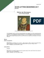 Biblio Agreg Fr 2017 Montaigne