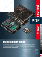 Maxon Motor Control Catalog Data