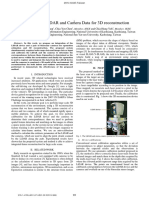 Intergration of LIDAR and Camera Data for 3D Reconstruction