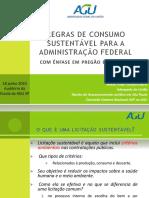 AGU - Regras de Consumo Sustentavel Da Adm Pública