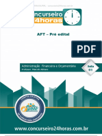 Aft Administracao Financeira e Orcamentaria 2016 Aula INAUGURAL