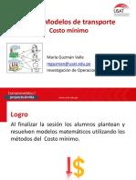 Modelo de Transporte Solución Costo Mínimo - Industrial