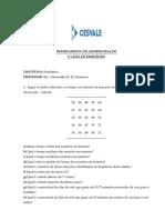 CESVALE - Lista Exercício 2