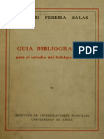 Guía Bibliográfica Para El Estudio Del Folklore Chileno