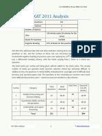 XAT 2011 Analysis