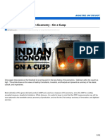 The Indian Economy -On a Cusp
