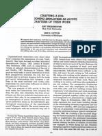 crafting a job for Wrzesniewski and Dutton 2001.pdf