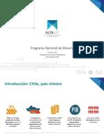 Presentación de Mauro Valdes Presidente Ejecutivo Del Programa Nacional de Mineria Alta Ley