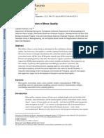 Biological Regulation of Bone Quality