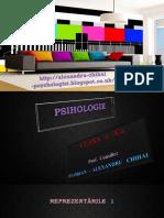 PSIHOLOGIE * Reprezentarile