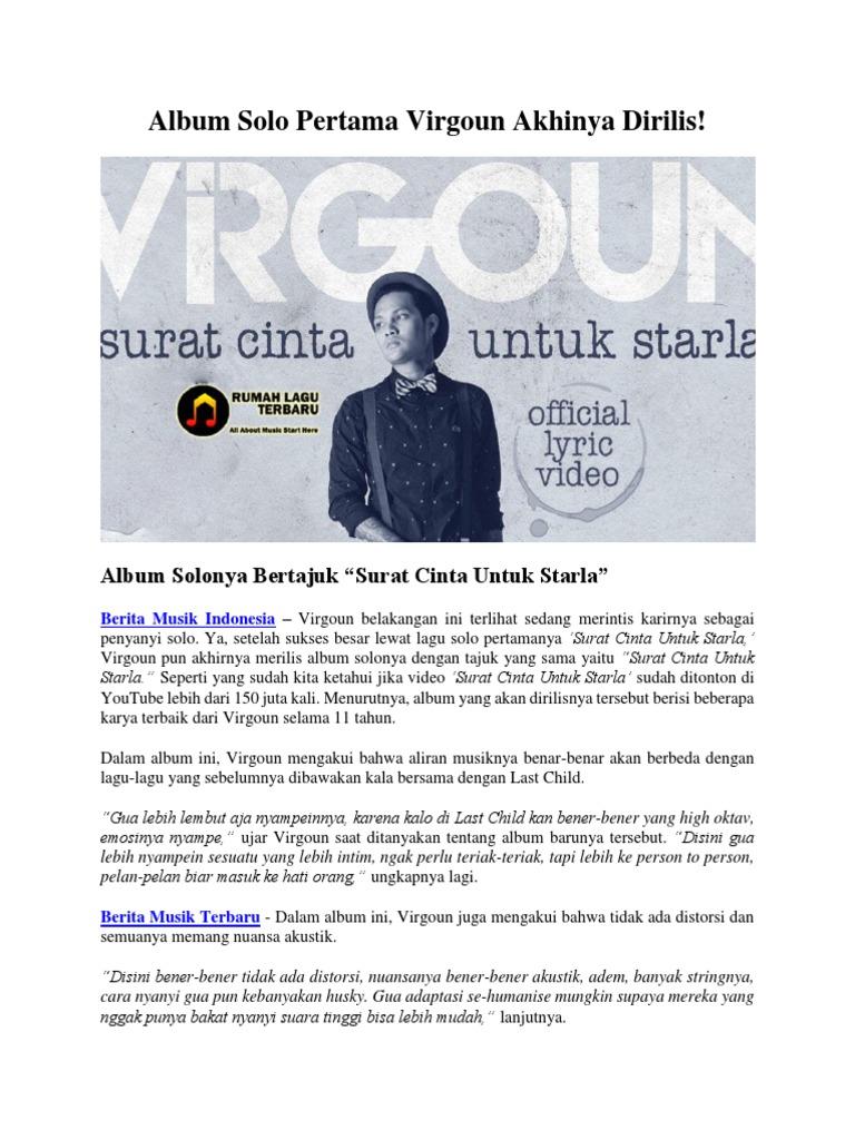 Album Solo Pertama Virgoun Akhinya Dirilis Iya Kan Bener