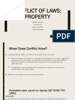 Conflict of Laws Property