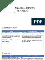 Perbandingan Sdm & Sarana Dan Proses Produksi obat vs obat tradisional