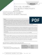 Bioetica Del Asombro Personalista