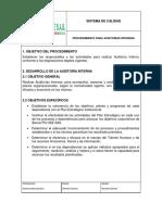 ANEXO 5. Procedimiento de Auditoría Interna