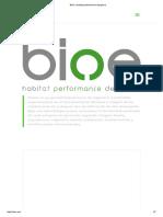 BIOe _ Habitat Performance Designers