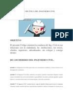Código de Ética Del Ingeniero Civil