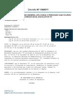 Decreto Nro 104 de 2011