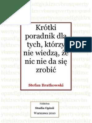 Stefan Bratkowski Krotki Poradnik Dla Tych Którzy Nie