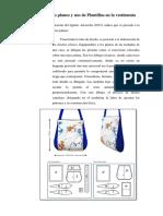 Los Diseños Planos y Uso de Plantillas en La Vestimenta