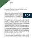 Discurs institucional de Puigdemont